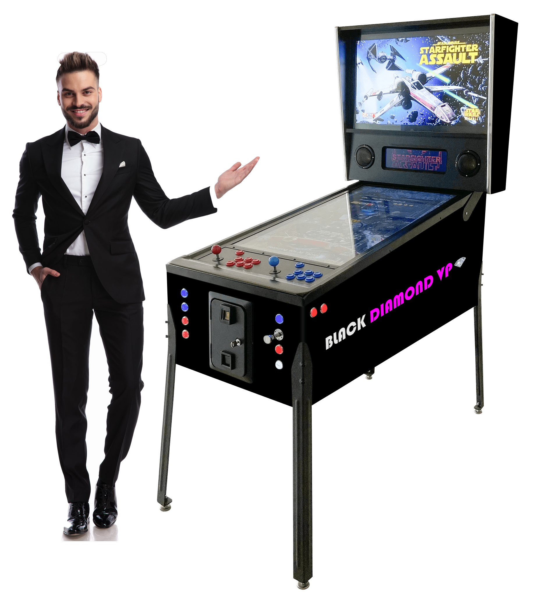 BLACK DIAMOND VP™ Virtual Pinball Machine Includes Over 1306 Games! Large-43
