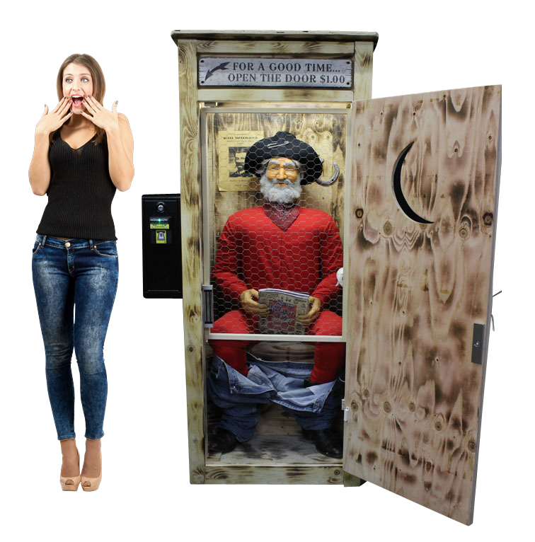 The Man In the Outhouse Novelty Arcade Machine