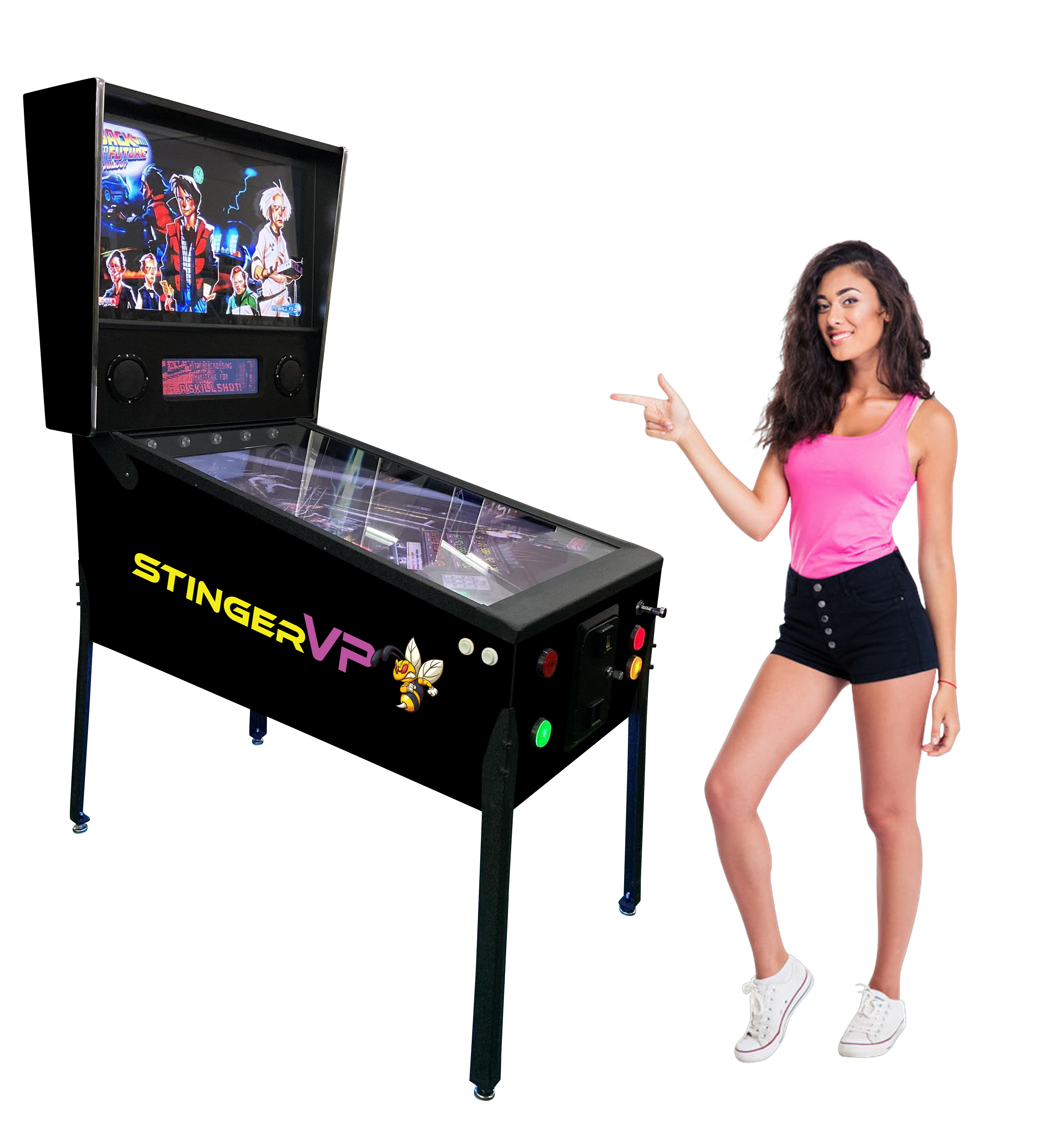 The New STINGER VP™ Virtual Pinball Machine for 2021! With Real Force feedback! (327 Famous Pinball Games)