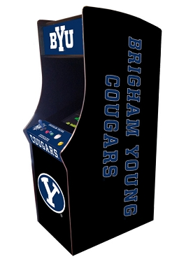 Brigham Youngs Cougars Collegiate Theme Upright Game Multi-Game (60&1)