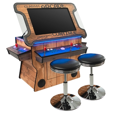 3 Sided 2 Player 4500 Cocktail Arcade Machine with 32
