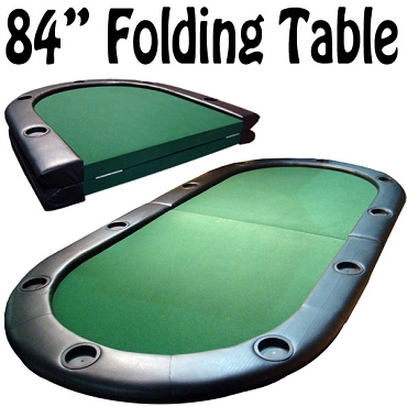 Poker Table 10 Player Center Fold Poker Table with Folding Legs 84