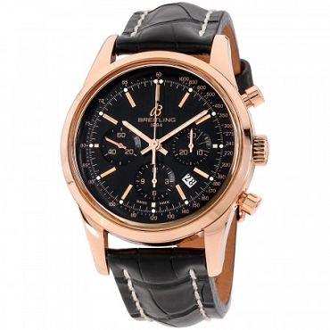 BREITLING TRANSOCEAN AUTOMATIC MOVEMENT BLACK DIAL