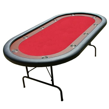 Poker Table Red Felt Poker Table With Dark Wooden Race Track 84
