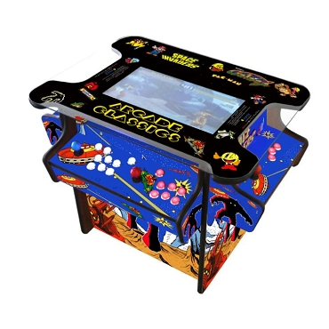 NEW AGE ARCADE Cocktail Arcade Machine! (3-sided) (5,000 Games In One) (Space Invaders - Arcade Classic Theme!)