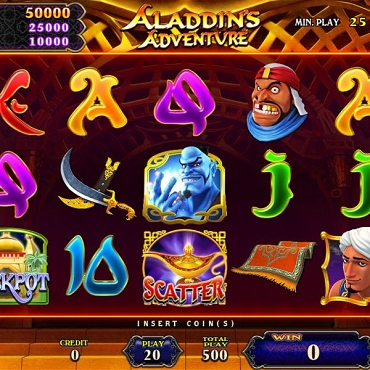 Aladdin's Adventure / A 25 Line game by IGS (For Cab-style A and B)