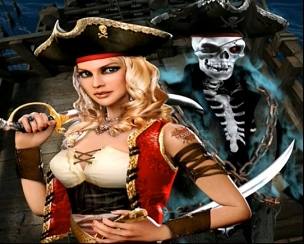 Pirate Queen Plus 10 Line Vertical Game (For Cab-style D)