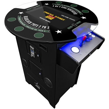 2 PLAYER BLACKJACK TALL PUB ARCADE | STOOLS INCLUDED ||Trackball |21