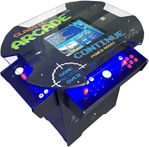 1,162 Classic Games 3 Sided 2 Player Cocktail Arcade Machine with 26