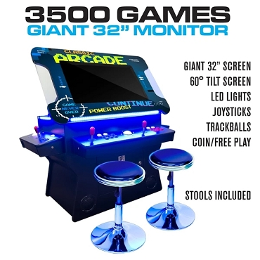3 Sided 2 Player 3500 Cocktail Arcade Machine with 32