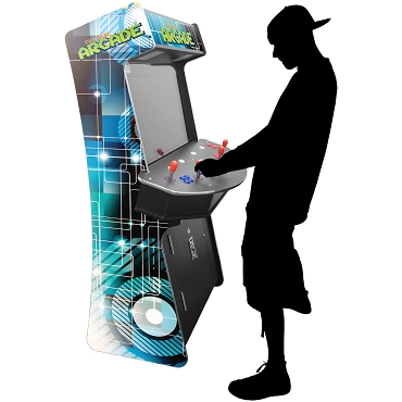 Creative Arcades Slim 3,500 Classic Games 4 Player Stand-Up Arcade Machine | 32