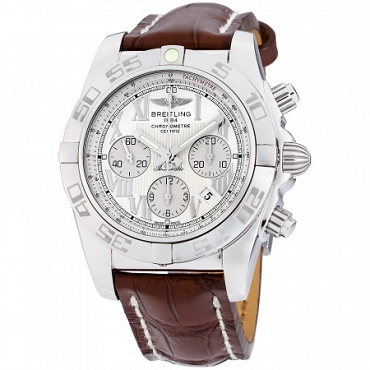 BREITLING CHRONOMAT 44 AUTOMATIC MOVEMENT SILVER DIAL