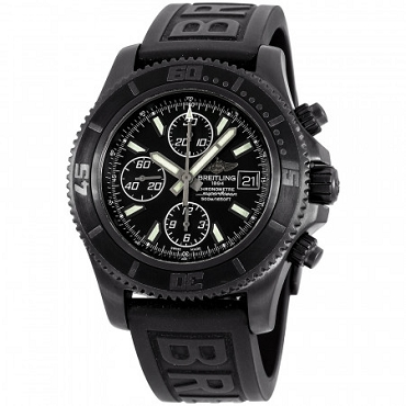 BREITLING SUPEROCEAN AUTOMATIC MOVEMENT BLACK DIAL