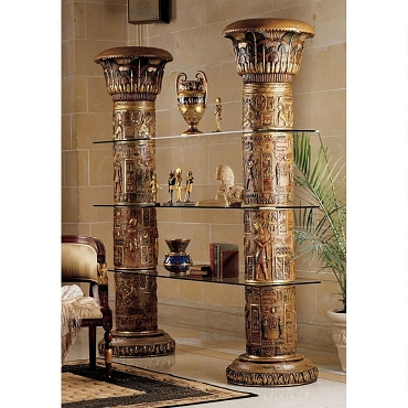 Egyptian Columns of Luxor Shelves (set of 2)