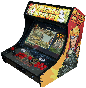 MegaKade Bartop Arcade Machine (17,000+ Games) (Metal Slug Theme)