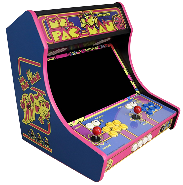 MegaKade Bartop Arcade Machine (17,000+ Games) (Ms. Pac-Man Theme)