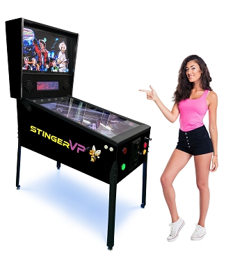 The New STINGER VP DX™Virtual Pinball Machine 327 Famous Pinball Games | 49