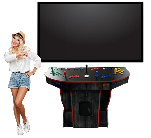 NEW AGE ARCADE ULTIMATE  Arcade PEDESTAL! (5700 Games In One) (4-player) (Includes Trackball and Spinner!) (Black Wood)