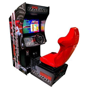 CLASSIC ARCADE RACER ARCADE RACING MACHINE! Cockpit Game Cabinet| 129 Racing Games | 32