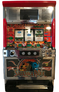 Pachislo Slot Machine (SAVANNA PARK) Token Operated or quarter operated!