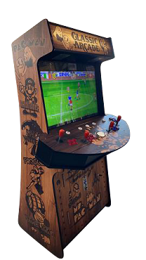 4 Player Stand Up Slim | 4,500 Games | Wood Grain | 32