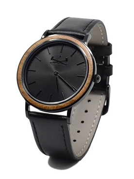 SwitchWood Watch (THE SPARTAN)(Black Steel Case)