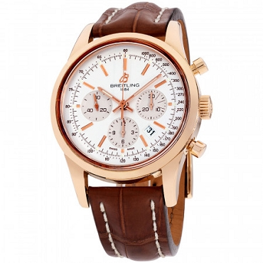 BREITLING TRANSOCEAN AUTOMATIC MOVEMENT SILVER DIAL