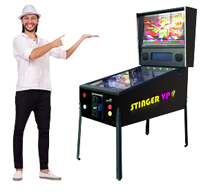 STINGER VP™ Virtual Video Pinball Machine! Includes 322 FAMOUS Pinball Games! 49