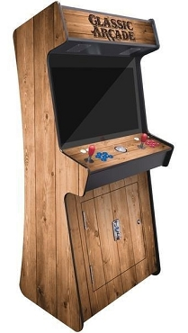 2 Player Stand Up Slim | 3500 Games | Wood Grain | 32