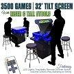 "2 Player 3 Sided 32"" 3500 Games In One - Tilt-Screen Cocktail Arcade with Base Riser 