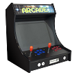 "2 Player Mini Upright Tabletop Arcade | 3000 Classic Games | 22"" LCD Screen (SE Black Edition)"