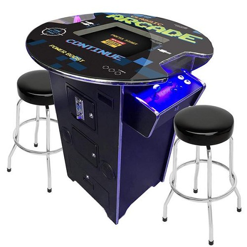"2 Player 39""H Pub Table Arcade Machine with 19"" LCD Monitor and 2 Tall Stools 