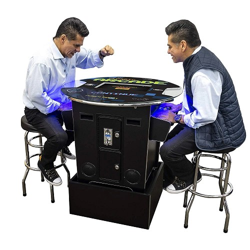 Cocktail Arcade Machine | Arcade Riser Included | Round Glass Top (412 Games Included)