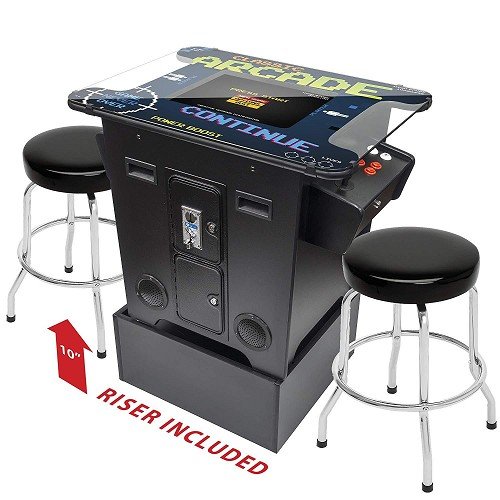 "2 Player Cocktail Table Arcade Machine with 26"" LCD Monitor - Arcade Riser Included - Square Glass Top (412 Games Included)"