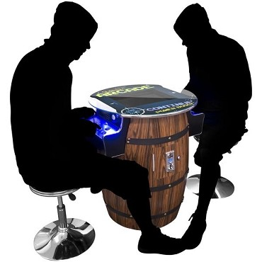 2 PLAYER WOODGRAIN TALL PUB ARCADE | STOOLS INCLUDED (412 Games in One)