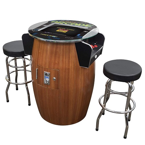 "2 Player 42""H Pub Table Arcade Machine with 19"" LCD Monitor and 2 Tall Stools 