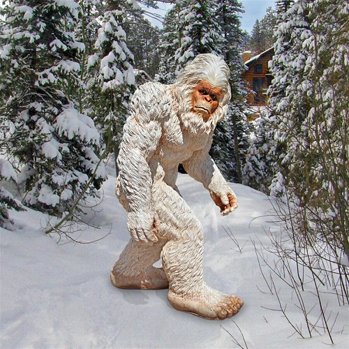 Abominable Snowman Yeti Statues