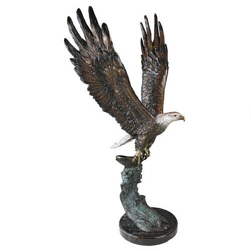 Majestic Eagle Cast Bronze Garden Statue
