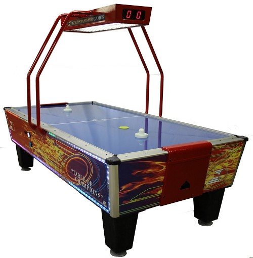Gold Standard Games Gold Flare Home Elite Air Hockey Table 8HGF-WO2-OHS-L