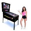 STINGER VP-DX (327 Games In One) Virtual Pinball Machine! (With Real Forced Feedback - Under the cabinet LED Lighting)