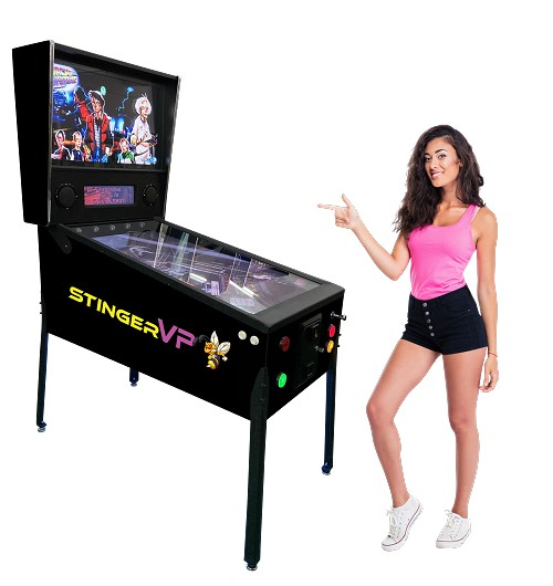 The New STINGER VP™ Virtual Pinball Machine for 2021! With Real Force feedback!