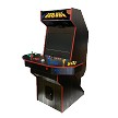 GE ARCADE UAII Arcade Machine! (4-player) (All black no artwork standard NEW AGE ARCADE marque!