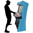 "4 Player Stand Up Slim | 4,500 Games | Special Theme | 32"" Video Game Arcade 