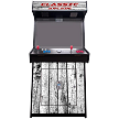 "4 Player Stand Up Slim | 4500 Games | Wood Grain | 32"" Video Game Arcade 