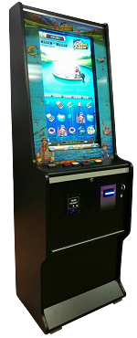 "DELUXE VERTICAL MULTI-LINE (Upright) MACHINE w/ Large 32"" VERTICAL SCREEN! (Touch-screen + Buttons) (Cab-style D)"