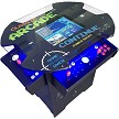 "1,162 Classic Games 3 Sided 2 Player Cocktail Arcade Machine with 26"" LCD Monitor Oval glass-top)"
