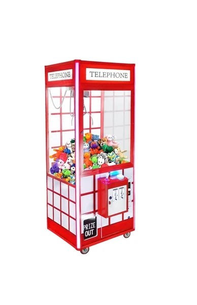 "Telephone Plush Crane 31"" Claw Machine-With DBA"